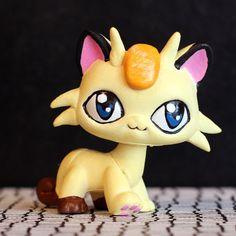 Meowth Pokemon Littlest Pet Shop custom