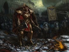 Primarch Angron with his World eaters