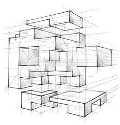 vektorgrafik geometric figures perspektive pinterest perspektive fluchtpunkt und zeichnen. Black Bedroom Furniture Sets. Home Design Ideas