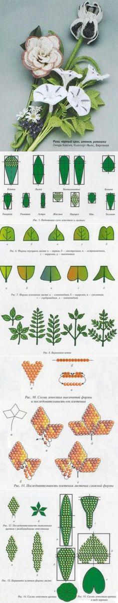 Бисерная флористика (часть 2) / Основы бисероплетения, Цветы / Biserok.org