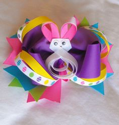 (best website for tutorials)     I Like Big Bows: Featured: Easter Hair bows