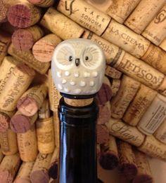 Vintage+Upcycled+Decorative+Owl+Wine+Bottle+Stopper+by+MonChiTree,+$17.00