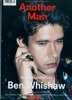 """Ben Whishaw is Another Man's latest cover star. The English actor covers the magazine's fall-winter 2018 edition, which is dubbed its """"Romance and Ritual"""" issue. British Style Men, British Men, British Actors, Magazine Cover Layout, Magazine Covers, Ben Whishaw, Human Oddities, New Mens Fashion, Fashion Mag"""