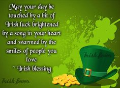 Irish blessing * background image credit goes to pizap.com