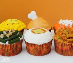 Thanksgiving Dinner Cupcakes