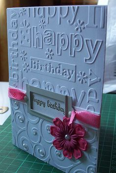 Never thought to use two different embossing folders on one card!! Bonus because I have both of these!!
