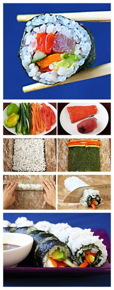 How to roll sushi...