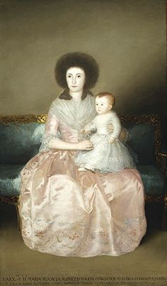 Countess of Altamira and her Daughter by Goya