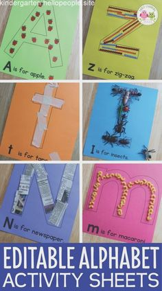 Alphabet Activities Letter Collage Sheets Editable ABC Activity Pages is part of Alphabet activities kindergarten - sound as Alphabet Activities Kindergarten, Preschool Letters, Toddler Learning Activities, Preschool Learning Activities, Preschool Lessons, Preschool Crafts, Motor Activities, Preschool Activity Sheets, Teaching Letters