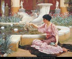 A Pompeian Garden - John William Godward