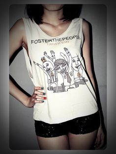 Foster the People Shirt Tank Tops TShirt Crop by RockTheWayYouLive, $13.99
