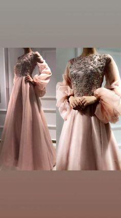 Light pink maxy with beggy sleeves and embroidered top Tesettür Abiye Modelleri 2020 Hijab Prom Dress, Hijab Evening Dress, Hijab Style Dress, Evening Dresses, Prom Dresses, Formal Dresses, Wedding Dresses, Hijab Fashion, Fashion Dresses