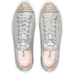 Miu Miu glitter sneakers > omg such fabulous shoes! Manolo Blahnik, Shoe Boots, Shoes Heels, Pumps, Flat Shoes, Shoes Sneakers, Pump Shoes, Protective Hairstyles, Jimmy Choo