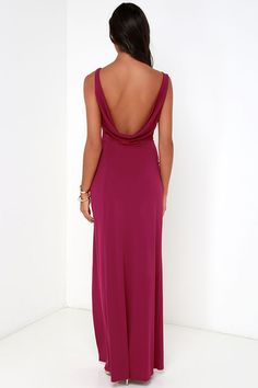 Shooting Starlet Berry Red Maxi Dress at Lulus.com!