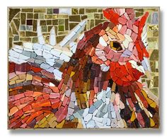 'A Golden Chicken' - Artist: Jeannot Leenen -  2014 International Mosaic Auction benefit for Doctors Without Borders / Médecins Sans Frontières (MSF) will be held online at BiddingForGood.com/DWB-MSF - Auction opens November 22 – Auction closes December 6