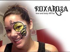 RoxaRosa face paint tutorial boy bee