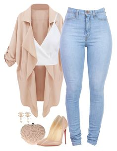 A fashion look from April 2016 featuring cami top, pink coats and stretchy jeans. Browse and shop related looks. Girls Fashion Clothes, Teen Fashion Outfits, Swag Outfits, Mode Outfits, Cute Casual Outfits, Pretty Outfits, Stylish Outfits, Fall Outfits, Summer Outfits