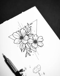Pin by hafsa on wolf in 2019 dibujar arte, dibujos de flores, dibujos a láp Cute Drawings, Tattoo Drawings, Drawing Sketches, Random Drawings, Pencil Drawings, Flower Tattoo Designs, Flower Tattoos, Cute Tattoos, Body Art Tattoos