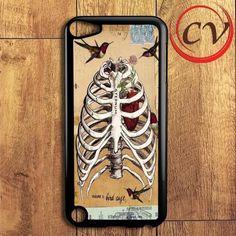 Birds And Skeleton Design iPod 5 Case