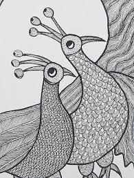 Image result for black and white gond paintings