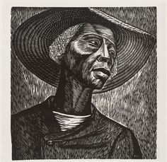 "moma:  Artist Elizabeth Catlett, who said the purpose of her art was to ""present black people in their beauty and dignity for ourselves and others to understand and enjoy,"" was born on this day in 1915.  [Elizabeth Catlett. Sharecropper. 1952, published 1968-70. The Museum of Modern Art, New York. © 2016 José Sanchez / Artists Rights Society (ARS), New York / VEGAP, Spain]"