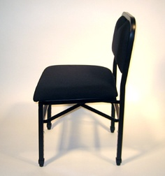 The Adjust-Rite Cello Chair is light-weight, is collapsible and adjustable, and looks great on stage!  Available at everythingcello.com.