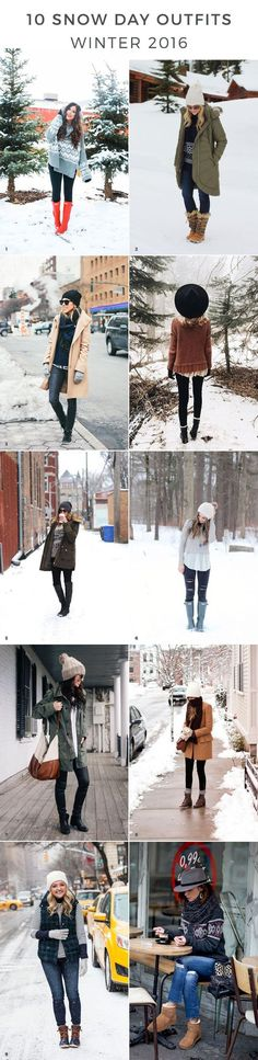 snowday outfits snow day outfits winter outfits winter outfit ideas snow day outfit ideas outfits for snow cold weather outfits winter style winter fashion trends heavy c. Winter Fashion Outfits, Fall Winter Outfits, Winter Dresses, Winter Wear, Autumn Winter Fashion, Winter Hats, Winter Snow, Dress Winter, Snow Wear