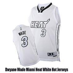Dwyane Wade Miami Heat White Hot Jerseys