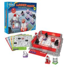 Laser Maze Junior Board Game There are 40 different challenge cards with different levels of difficulty, from easy to very hard.