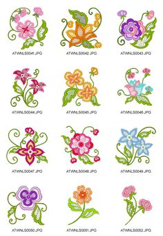 Lace-Flowers-NLS Embroidery Designs