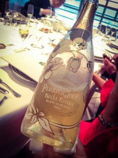 We started out with some 2002 Blanc de Blancs (made only with Chardonnay grapes). This is only the fourth time Perrier-Jouet has ever even made a vintage Blanc de Blancs.