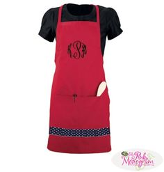 Monogrammed Aprons! Makes a great Mother's Day gift  Apparel & Accessories > Clothing Accessories > Aprons