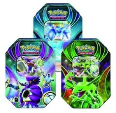ALL 3 TINS! Pokemon 2015 EX Powers Beyond Booster Tins = Rayquaza EX Latios EX Hoopa EX! – Pokemon Cards Collectible Box, Pokemon Cards Holder