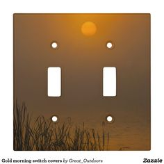 Gold morning switch covers