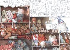 """""""Tashen`ka and cactus"""" Slava Shults 2015 on Behance Pencil Illustration, Children's Book Illustration, Character Illustration, Children's Picture Books, Illustrator Tutorials, Whimsical Art, Art Reference, Illustrators, Book Art"""