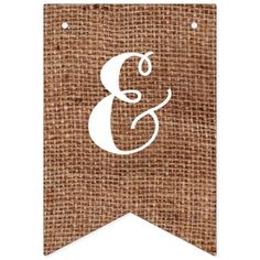Customizable Mr. & Mrs. Bunting on FAUX Burlap Bunting Flags
