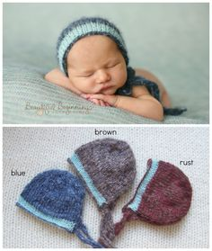 Mohair Newborn Turquoise Baby Boy Fall Hat Photo Prop Organic Bonnet Knitted Girl READY SHIP Blue Coming Home Cap HandKnit Going Home Outfit by DarnFanciful on Etsy https://www.etsy.com/listing/165822191/mohair-newborn-turquoise-baby-boy-fall