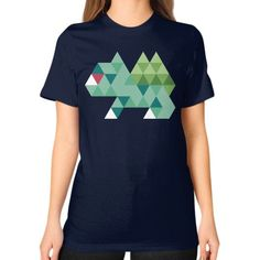Tri Green Unisex T-Shirt (on woman)