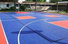 Premium Outdoor Sports Tiles are our premier court floor tile for basketball courts, tennis courts, and much more. Backyard Basketball, Basketball Court Flooring, Outdoor Basketball Court, Basketball Games, Playground Flooring, Outdoor Playground, Outdoor Flooring, Pvc Flooring, Floors