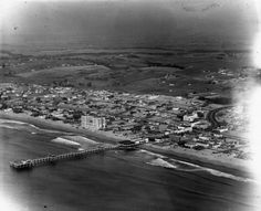 Hermosa Beach California early 1920's. Photographer unknown.