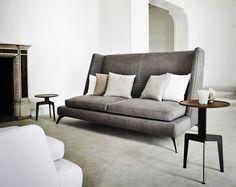 High backed sofa.