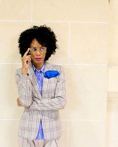 Leslie from FabFourFashion in checked wool Sumissura blazer Silk Handkerchief, Peplum Dress, Shirt Dress, Photos Of The Week, Blazers For Women, You Got This, Women Wear, Stylish, Handkerchiefs