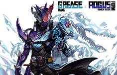 Kamenrider Grease x kamenrider Rogus Kamen Rider Decade, Kamen Rider Zi O, Kamen Rider Series, Character Art, Character Design, Mecha Suit, Gundam Wallpapers, Knight Art, Manga Artist