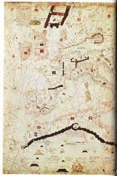 CARTA dI ANGELINO DULCERT – il Mediterraneo. Maiorca, 1339. Parigi, B. N., rés. Ge. B 696. (Kish 1980, tav. 44)