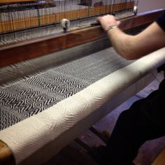 Manufacture of tweed at Studio Donegal's Mill. Undulating twill in Zebra.