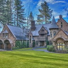 """Follow @luxurygrade Castle Home Tag someone who would live here! Photo courtesy of @sothebysrealty"""
