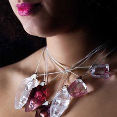 Crystal Jewellery handmade at Målerås Glassworks. Natural World, Crystal Jewelry, Handmade Jewelry, Jewellery, Crystals, Bracelets, Inspiration, Design, Style