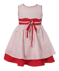 Take a look at this Richie House White & Red Layered A-Line Dress - Infant & Toddler on zulily today! Toddler Dress, Baby Dress, Toddler Girl, Infant Toddler, Little Girl Fashion, Kids Fashion, Little Girl Dresses, Girls Dresses, Frock Design