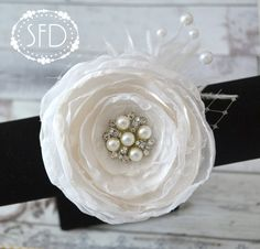 White Beauty Bride Hair Accessory  White  by SweetFaithDesigns, $18.50