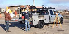 Standard Service Body with Fork Lift Lumber Rack, Low Side Boxes & Roller Coaster™ Bed Slide